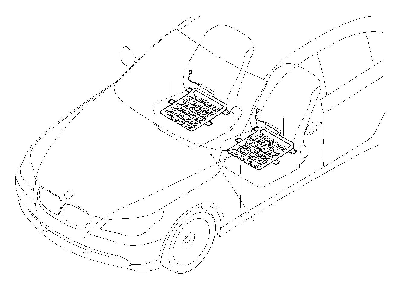 Bmw 760i Sensor Mat Front Seats Airbag Electrical