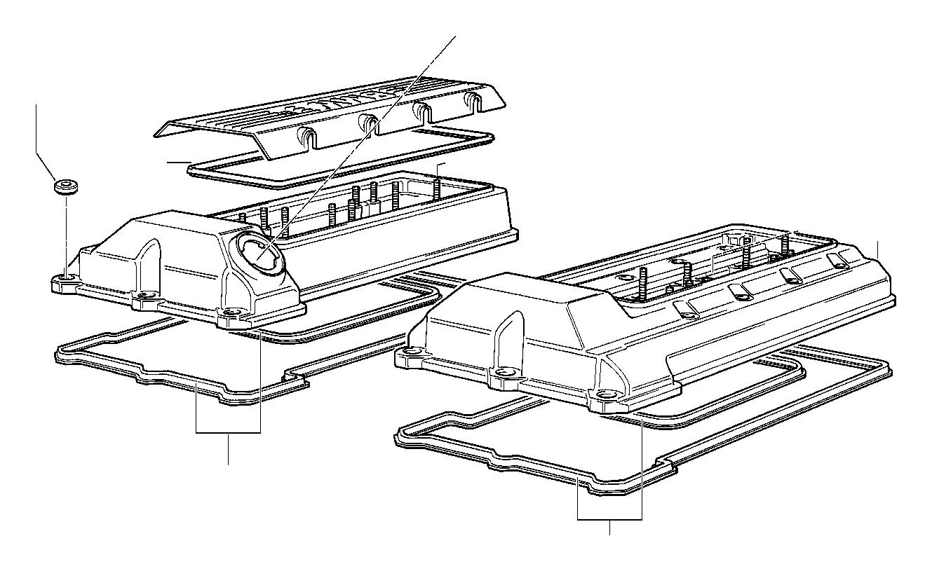 Bmw 540i Rocker Box Cover Right Cylinder Applies Head