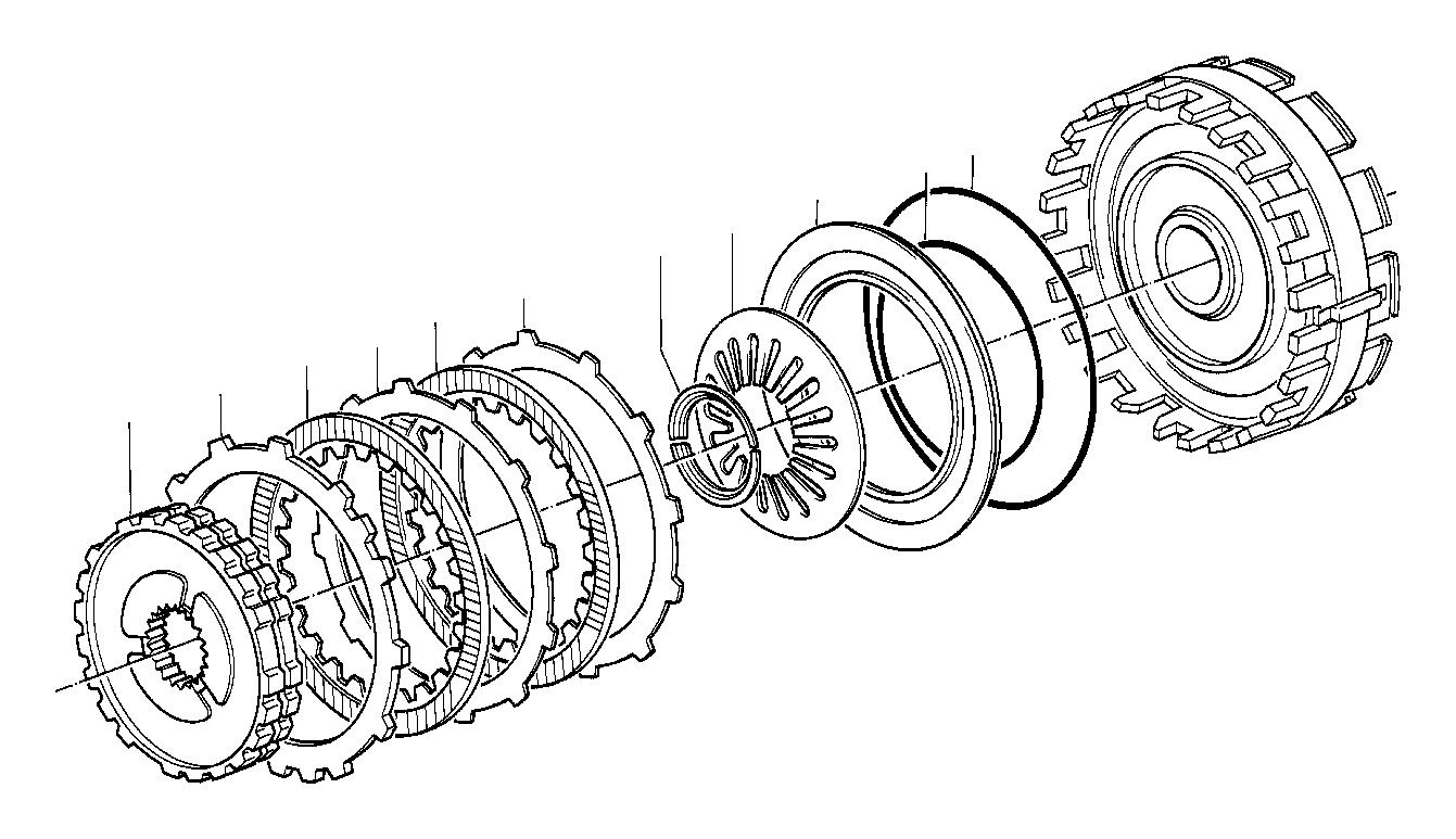 Bmw 528e Freewheel 2nd Gear Clutch Brake Transmission