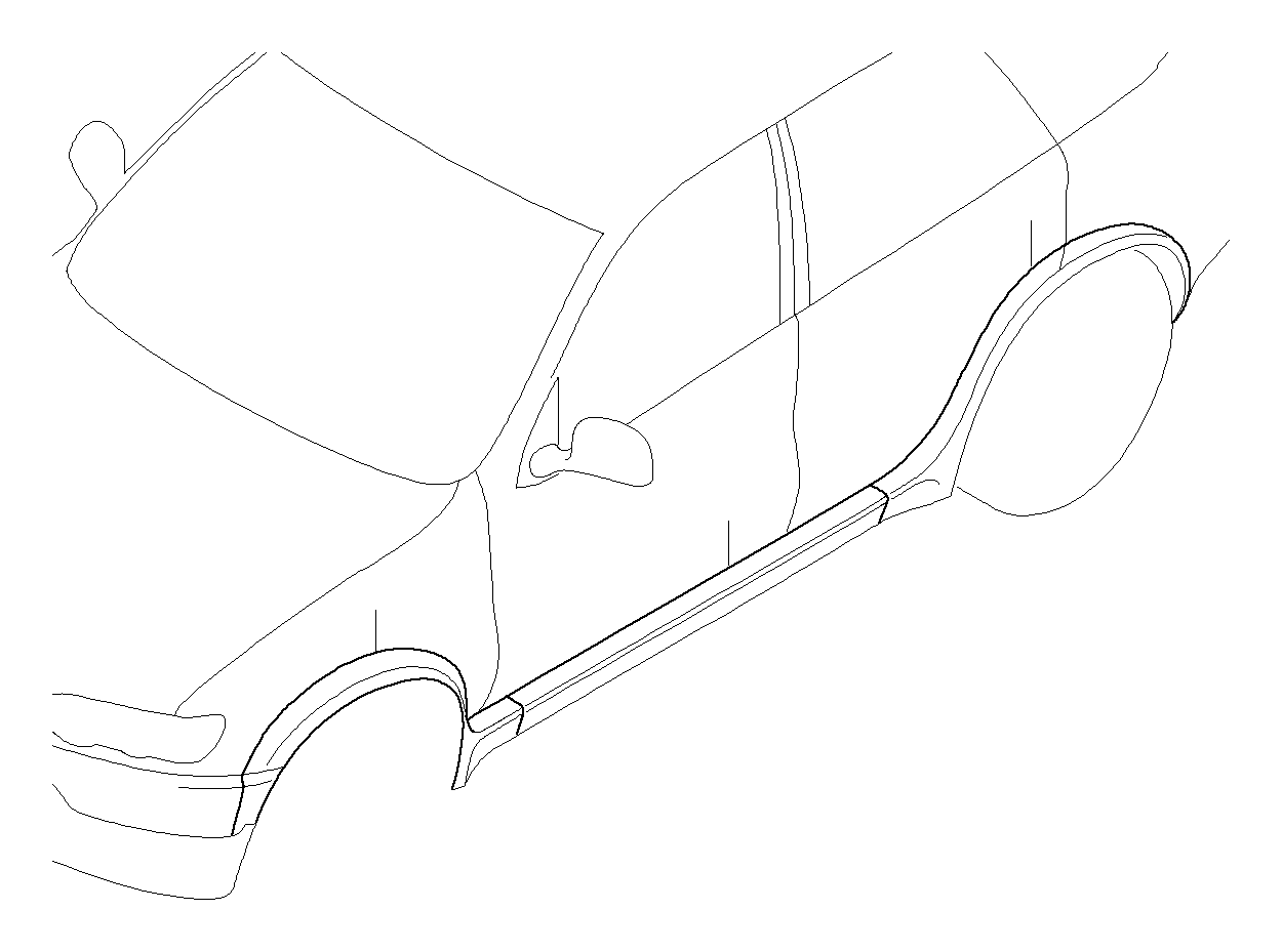 Bmw X5 Side Skirt E53 Lft Rht Exterior