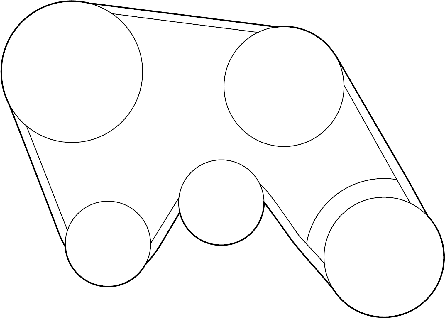 Nissan Pathfinder Serpentine Belt Compressor Steering