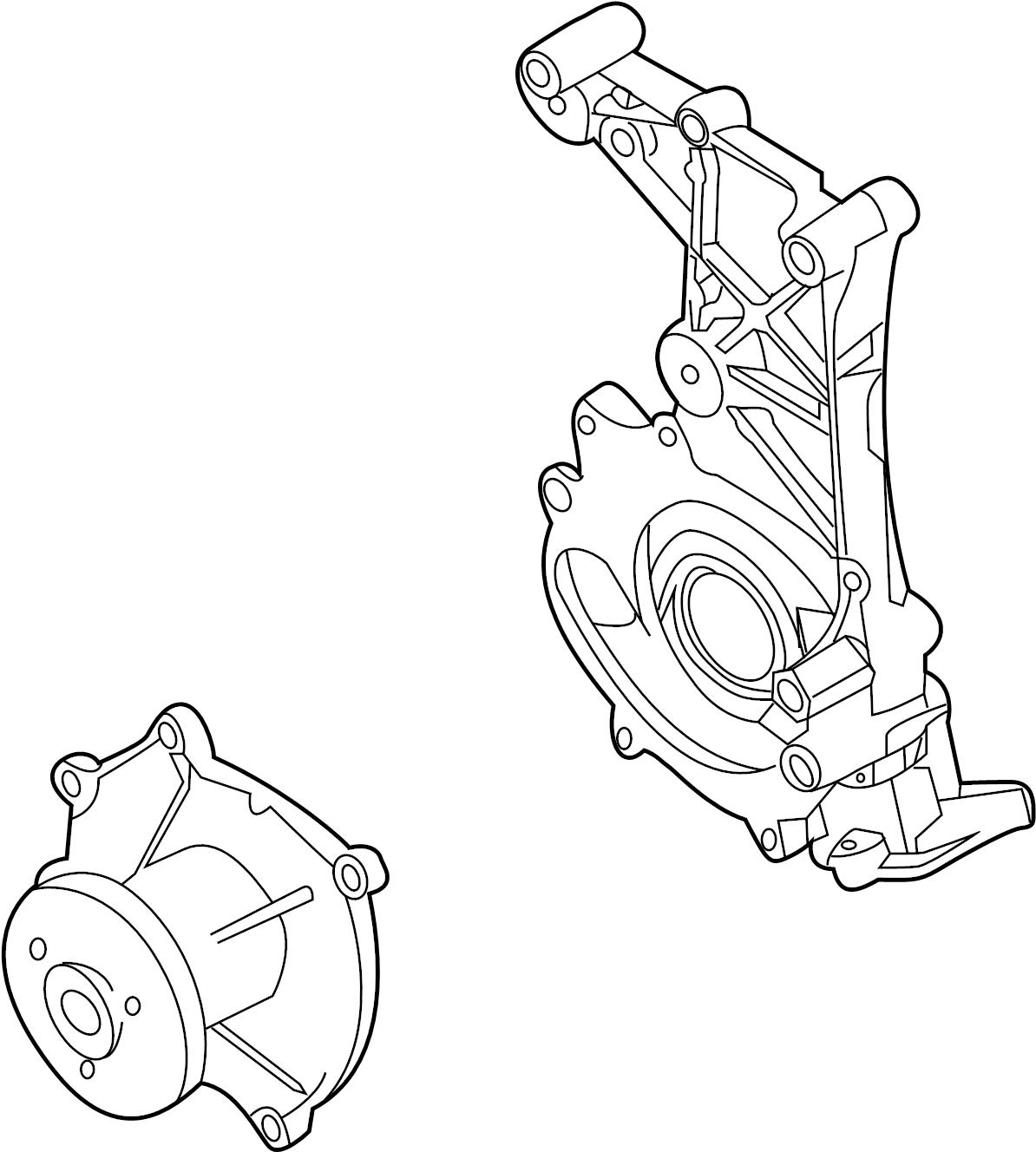 Porsche Boxster Engine Water Pump Housing 12 Incl