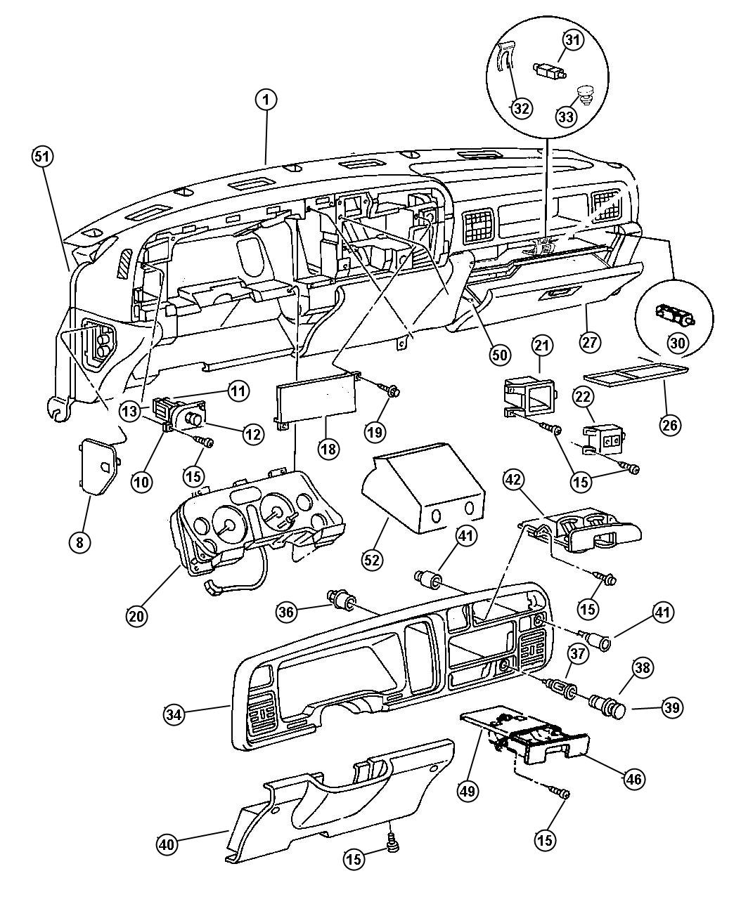 Dodge Ram Switch Package Headlamp Contains Switch