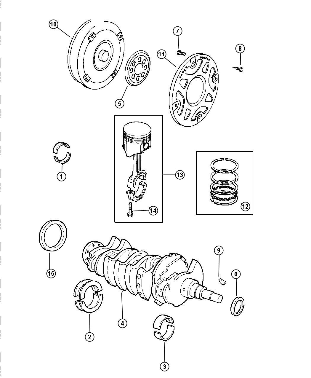 Chrysler Sebring Bearing Package Connecting Rod Standard