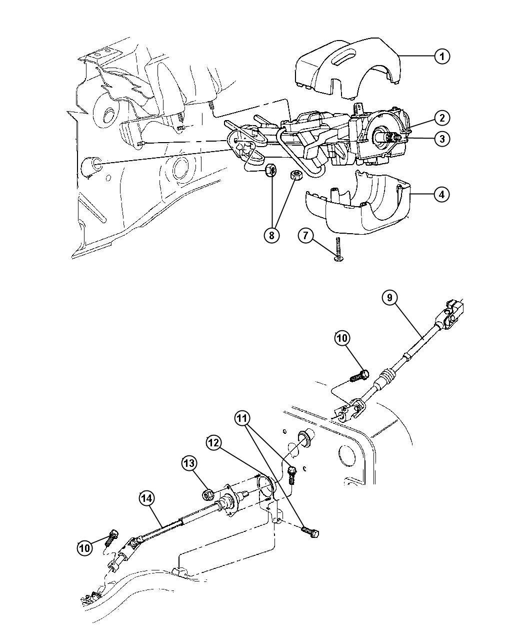 Jeep Wrangler Shroud Steering Column Lower Automatic
