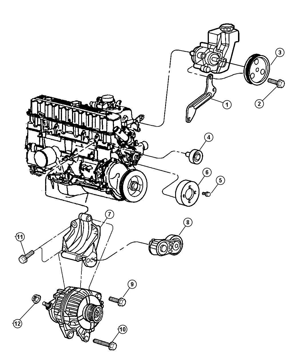 Jeep Grand Cherokee Pulley Power Steering Pump Engine