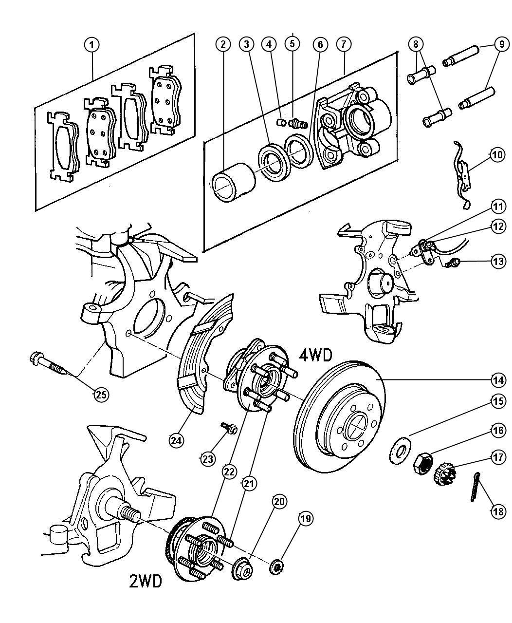 Dodge Durango Nut Hex Flange M22x1 25 Bearing Hub