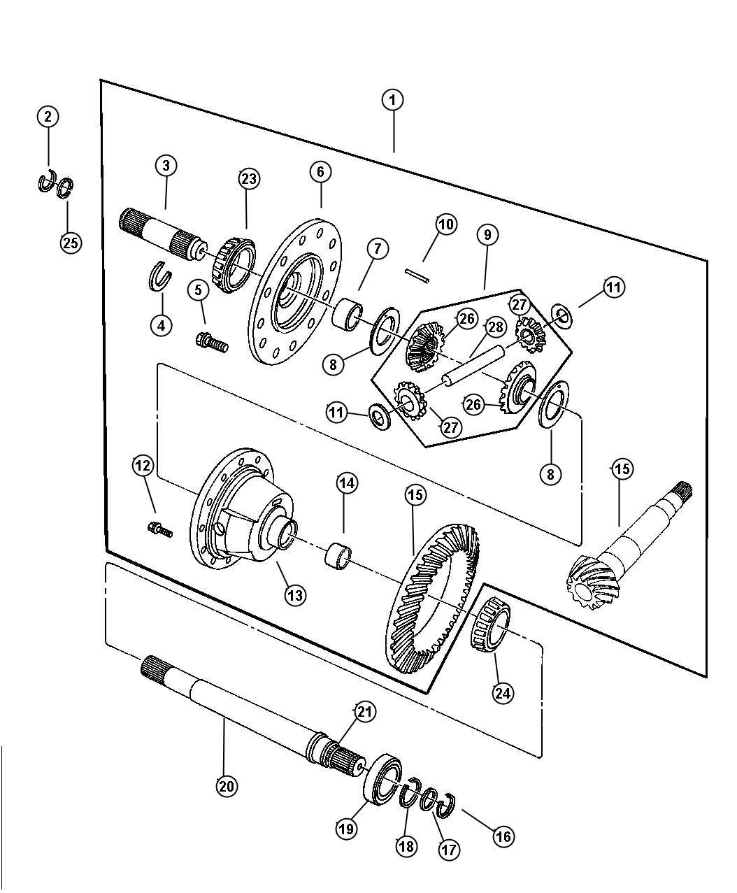 Dodge Intrepid Shaft Differential Pinion