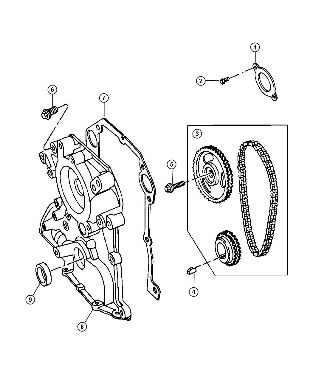 Dodge Viper Gasket Chain Case Cover Engine Belt Timing