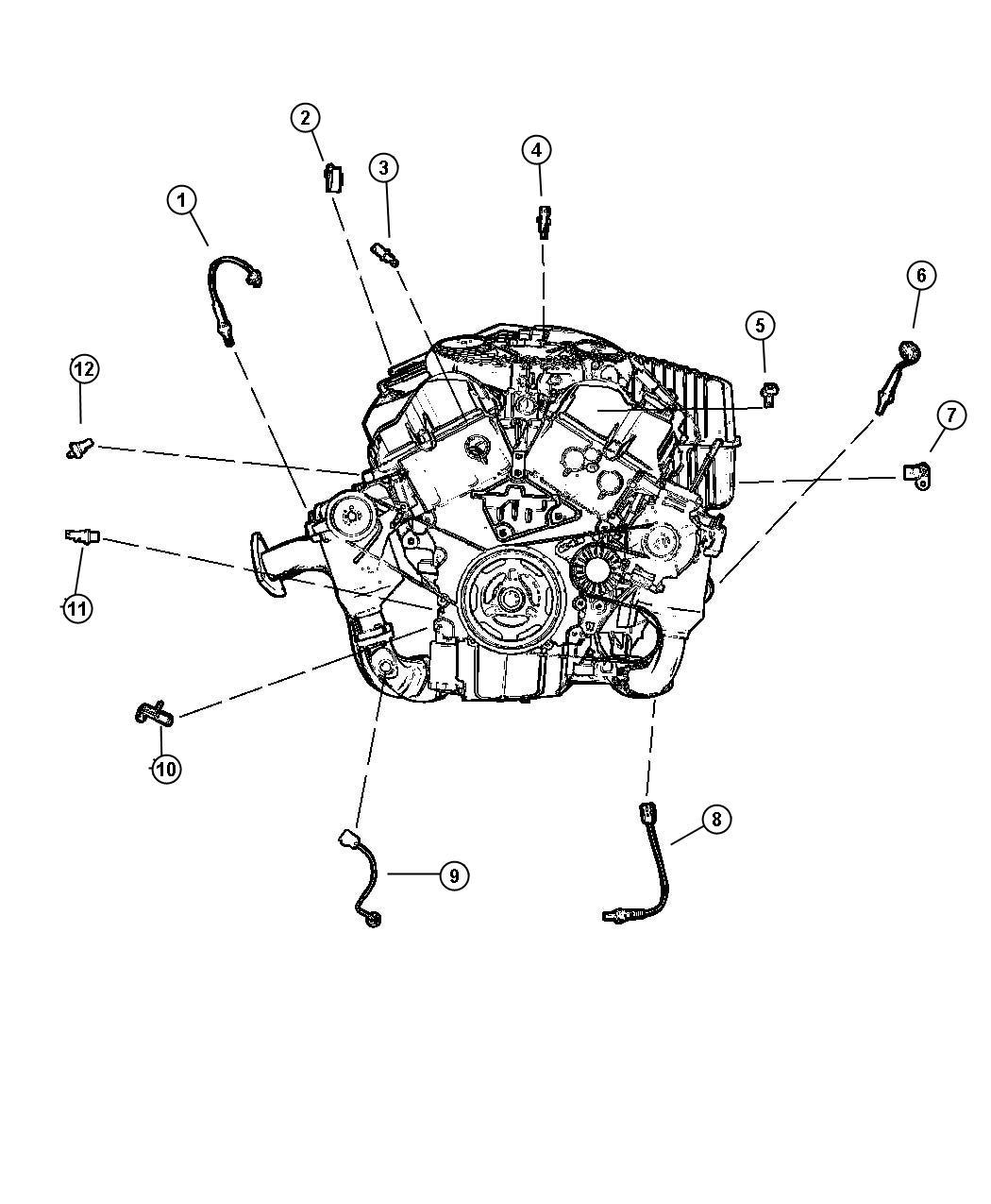 Dodge Intrepid Sensor Coolant Temperature
