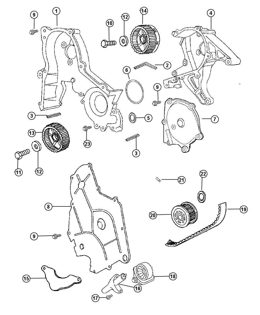 Chrysler 300 Tensioner Tensioner Arm Belt Pivot