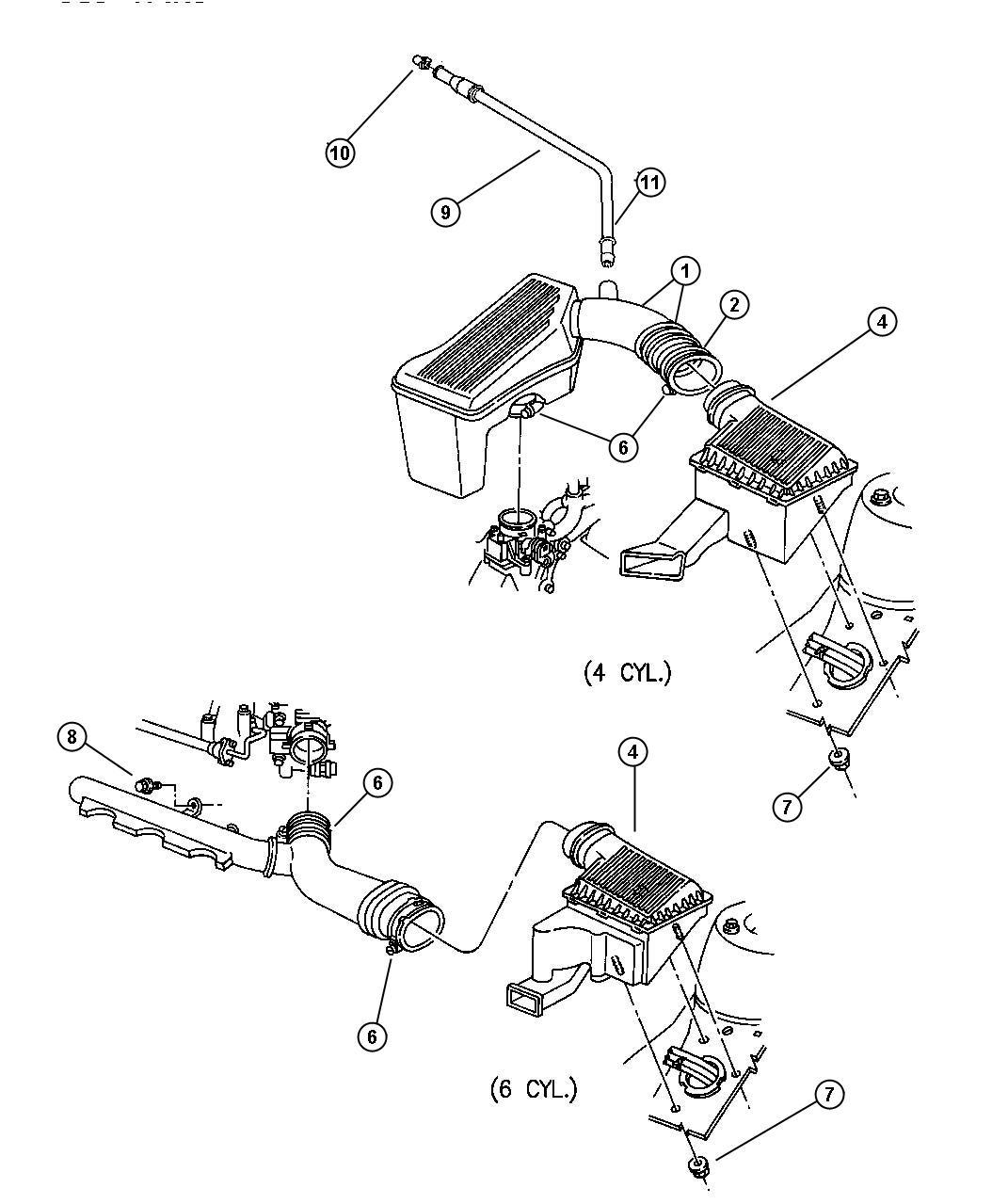 Dodge Stratus Element Air Cleaner Engine Filter