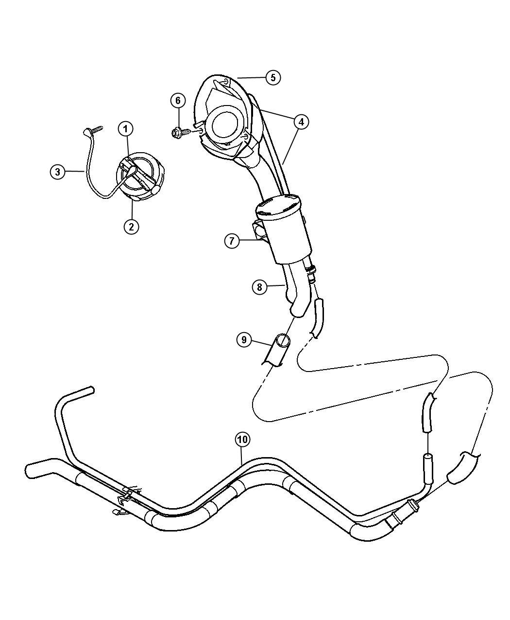 Jeep Liberty Filter Fuel Vapor Vent Leak Detection Pump