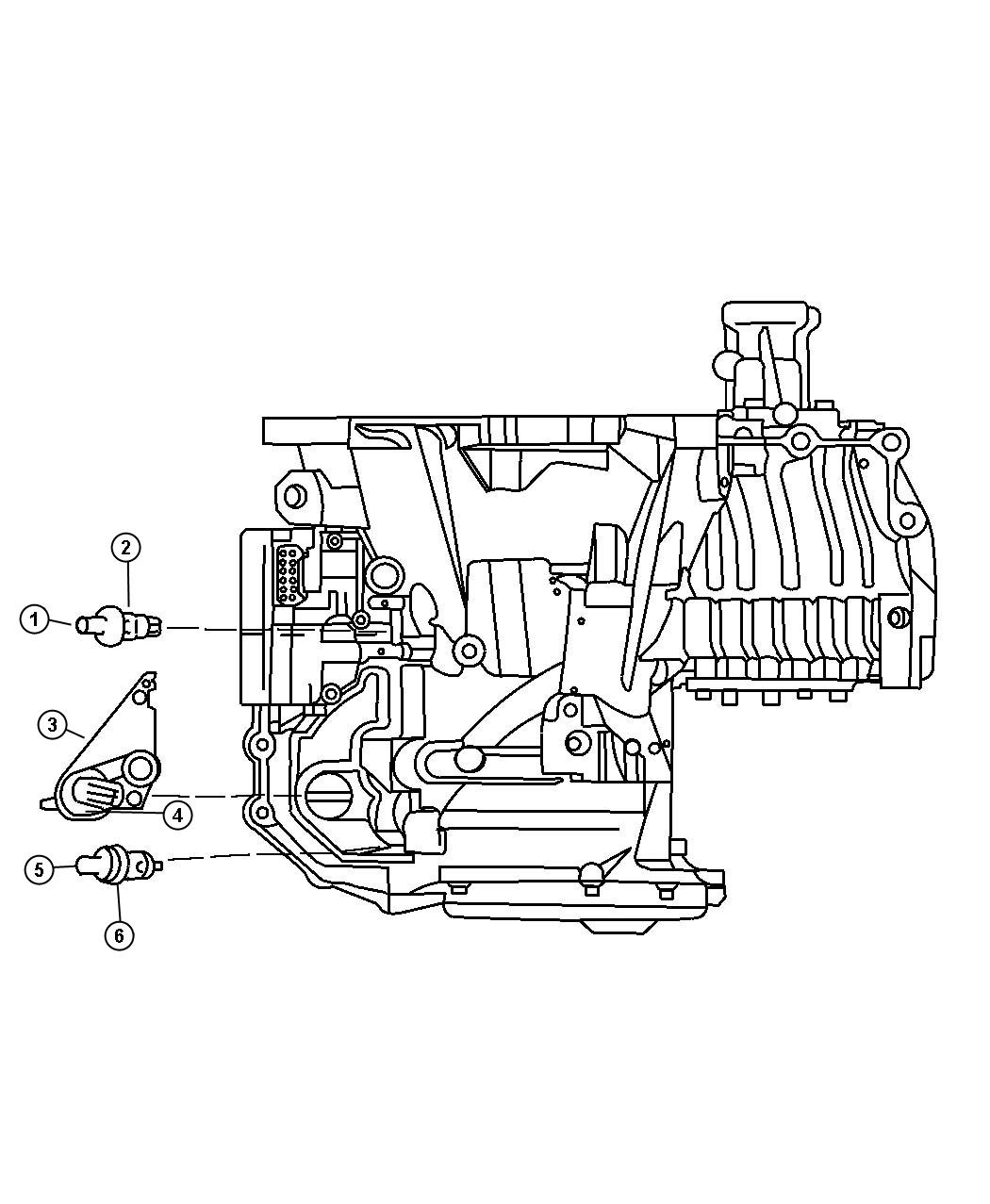 Chrysler Pacifica Seal Manual Valve Position Sensor