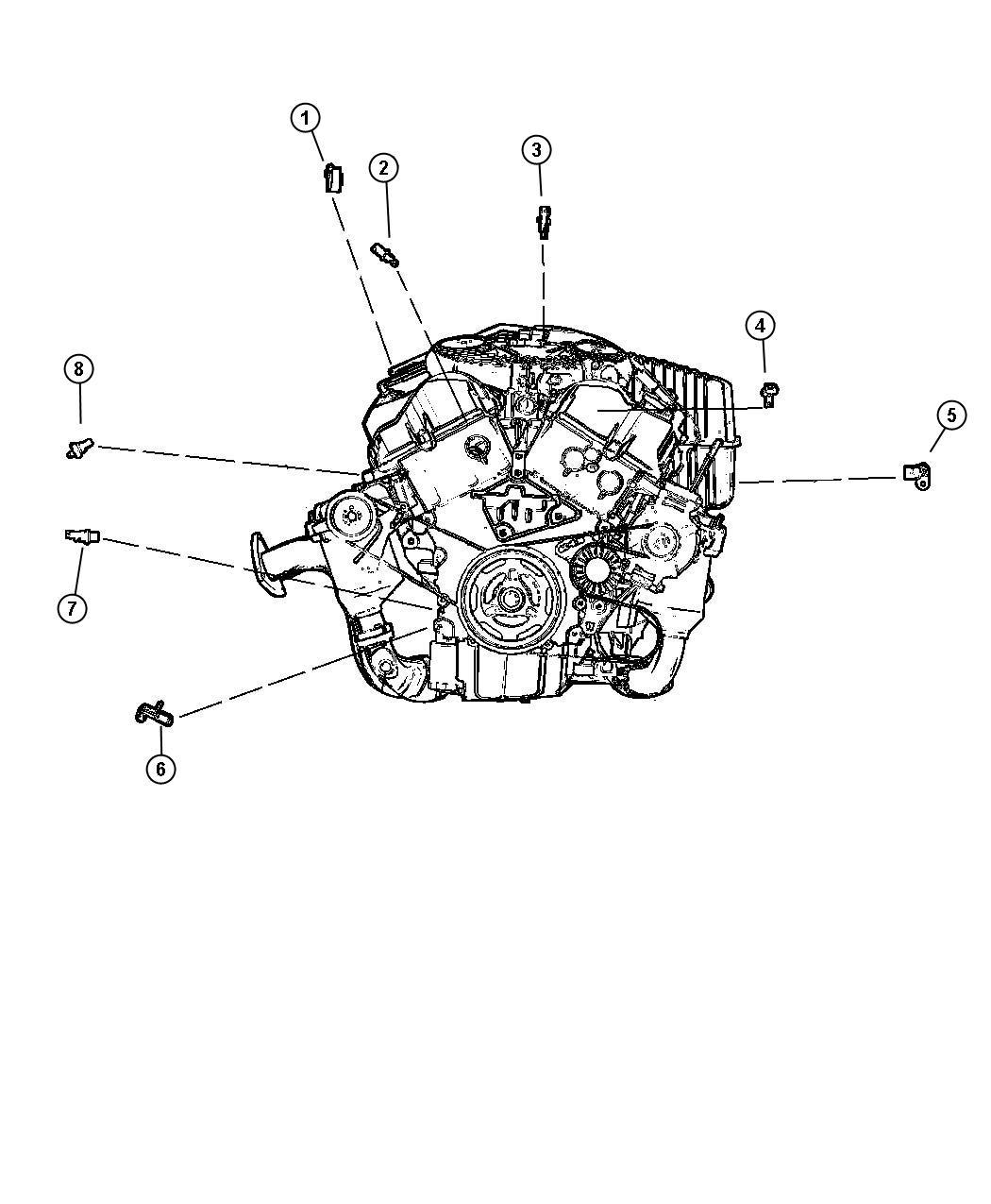 Dodge Stratus Sensor Camshaft Engine Timing Chain
