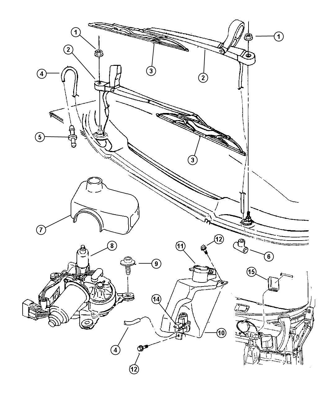 Dodge Viper Gasket Grommet Reservoir Sensor Washer