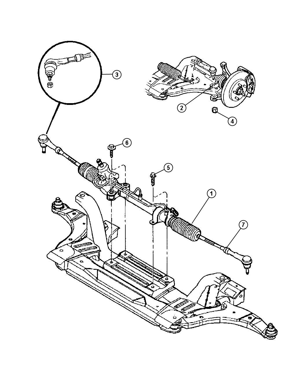 Chrysler Pt Cruiser Gear Power Steering Used For Rack