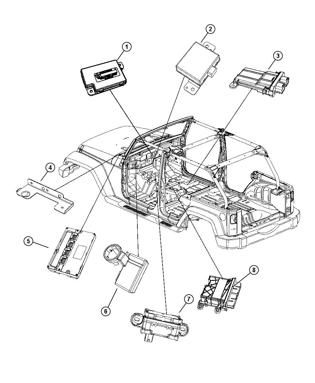 Jeep Wrangler Module Occupant Restraint
