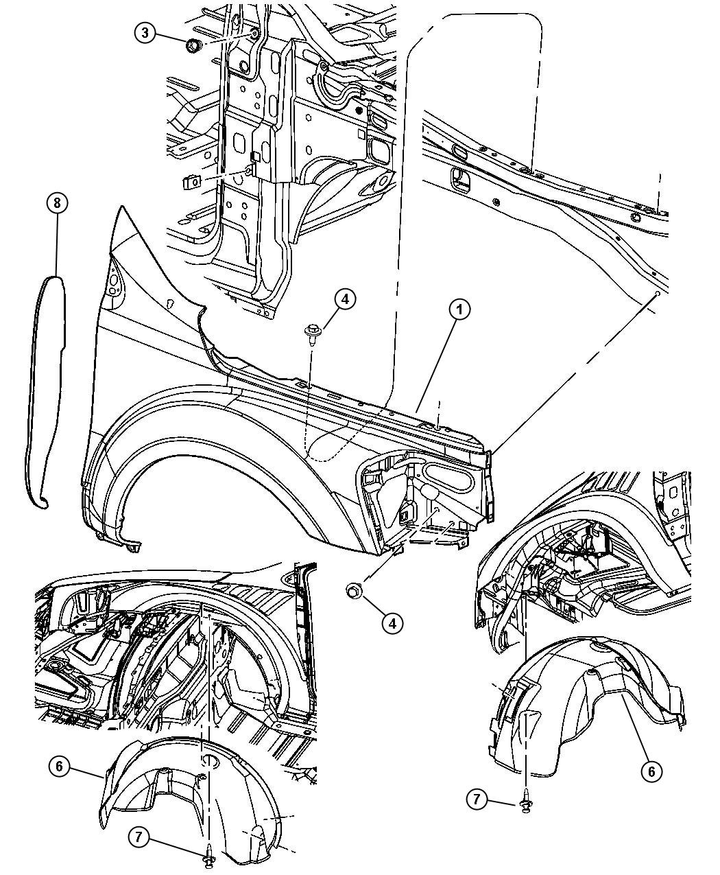 Chrysler Aspen Used For Screw And Washer Self Tapping