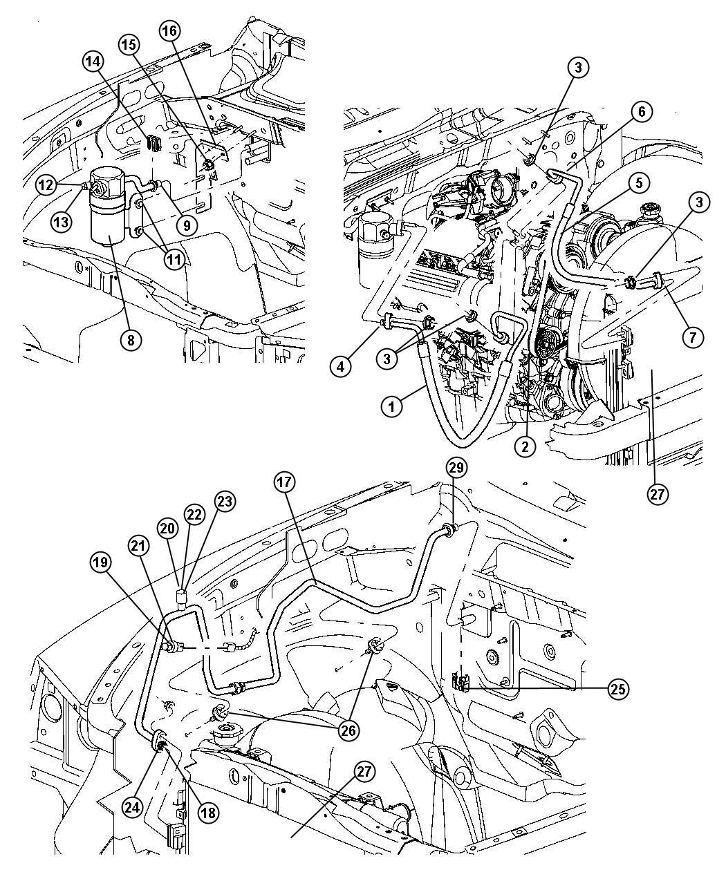 Dodge Dakota Gasket Seal A C Compressor A C Line Slim