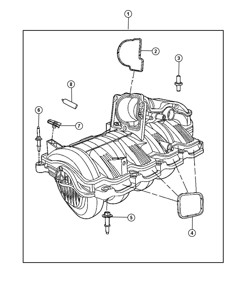 Dodge Ram Manifold Intake Engine Mpi Exhaust