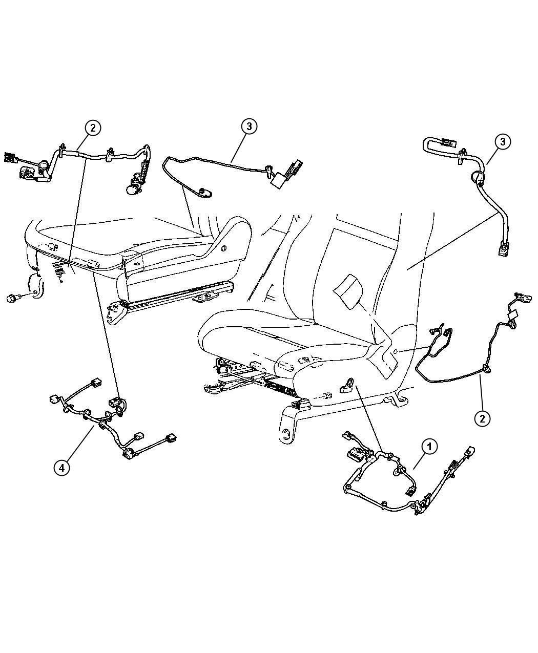 Chrysler Sebring Wiring Seat Trim Prem Cloth Low Back