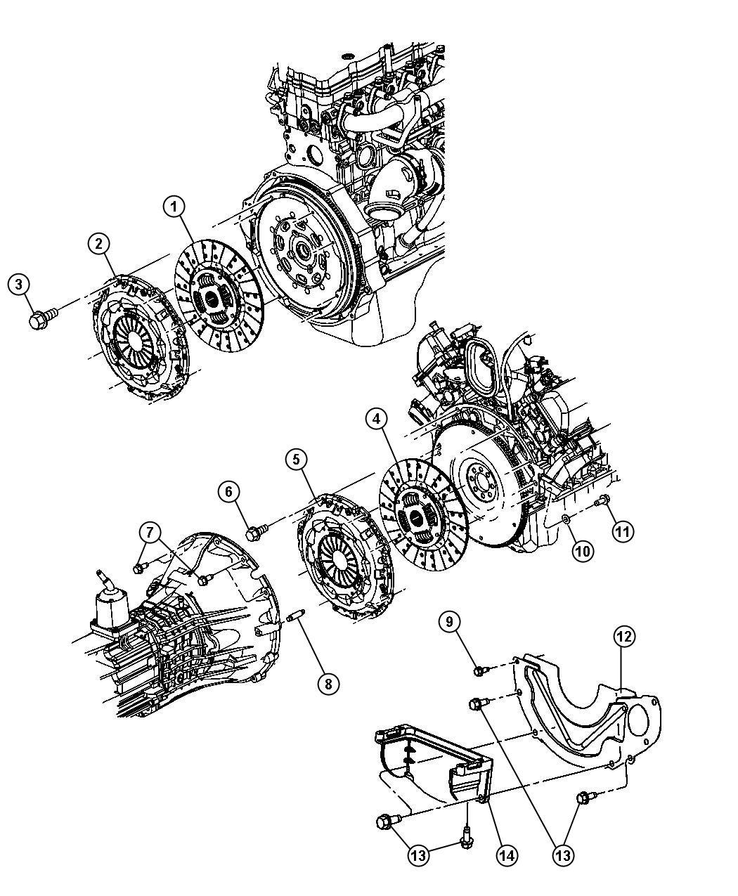 Dodge Ram Disc Clutch For Body 94