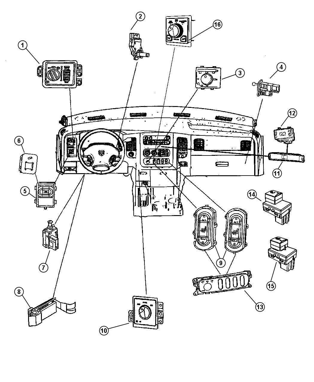 Dodge Ram Switch Ignition Column Steering Tilt