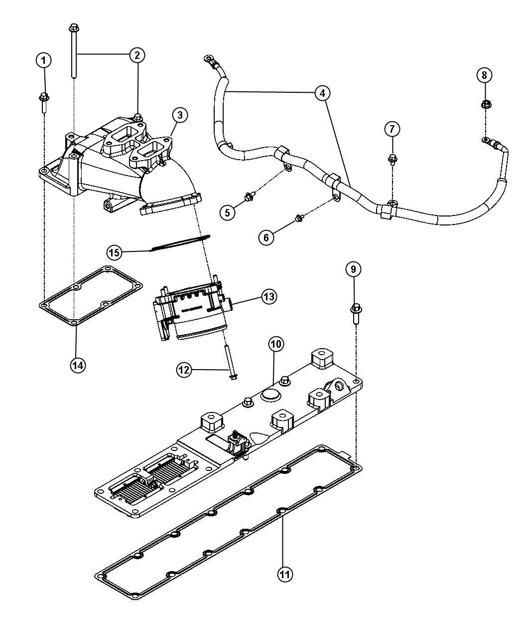 Dodge Ram Nut Hex Flange M6x1 00 Mounting Heat