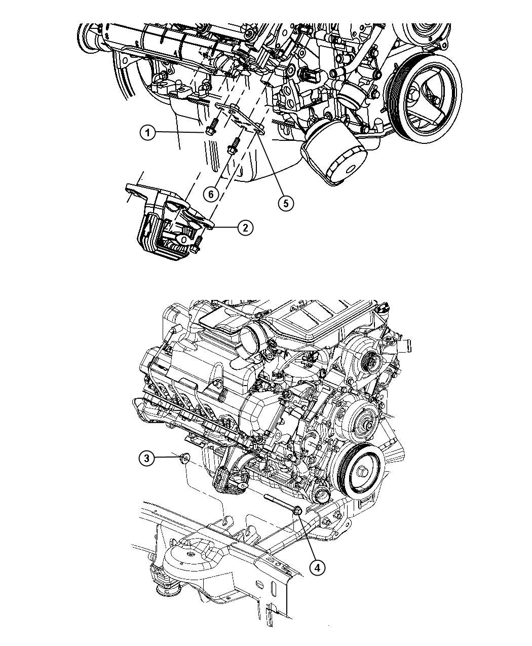 Dodge Ram Bracket Engine Mount Right Right Side