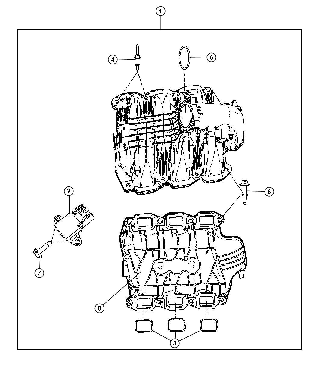 Jeep Commander Gasket Throttle Body Throttle Body To