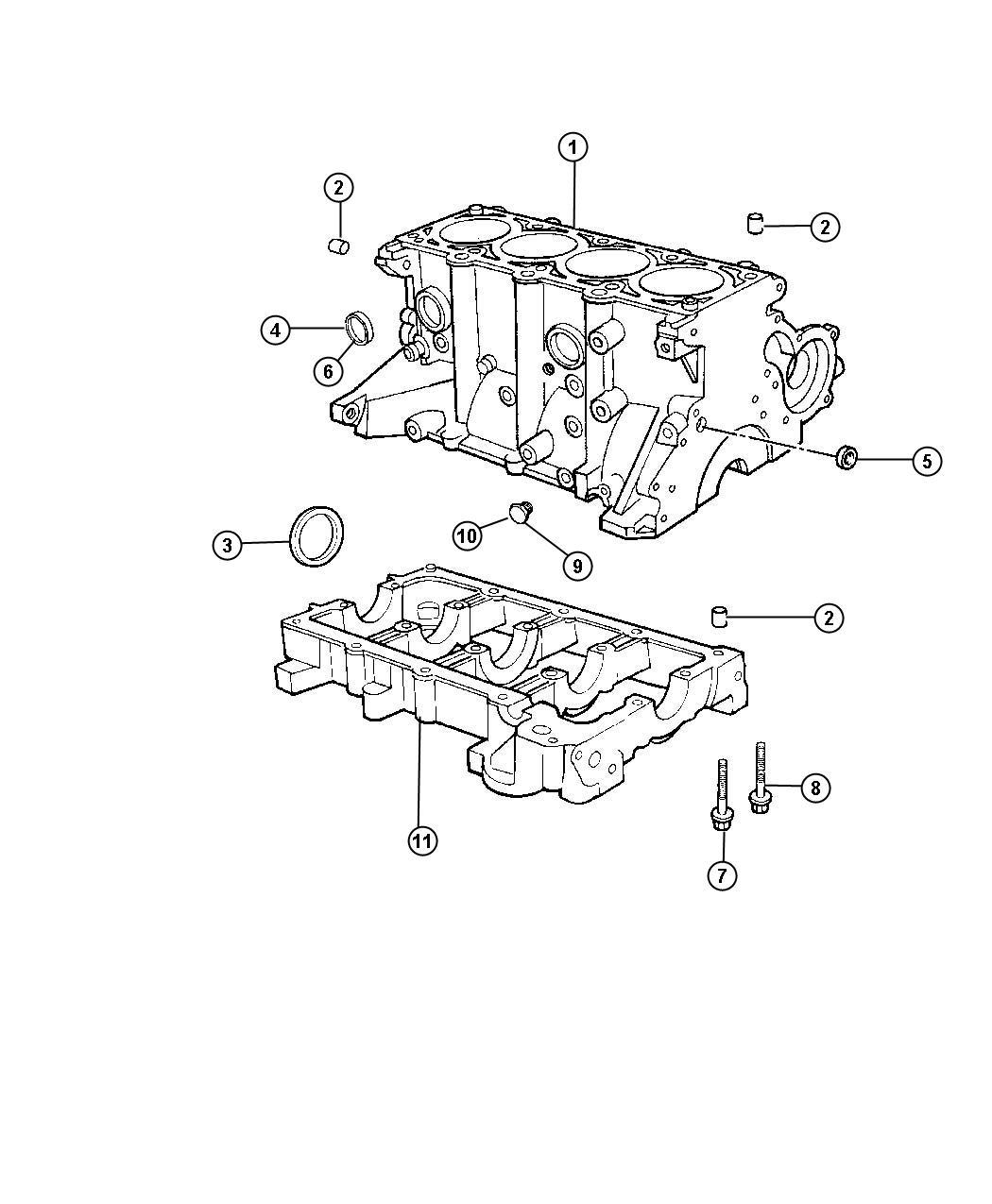 Chrysler Pt Cruiser Dowel Dowel Pin Engine Block To