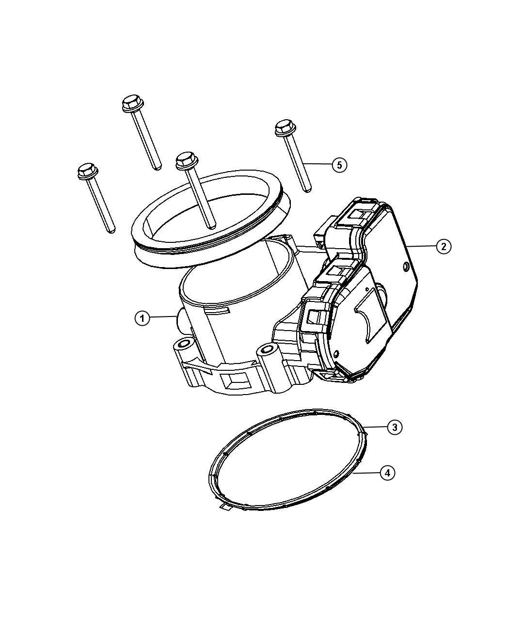 Dodge Ram Seal Throttle Body To Intake Mounting