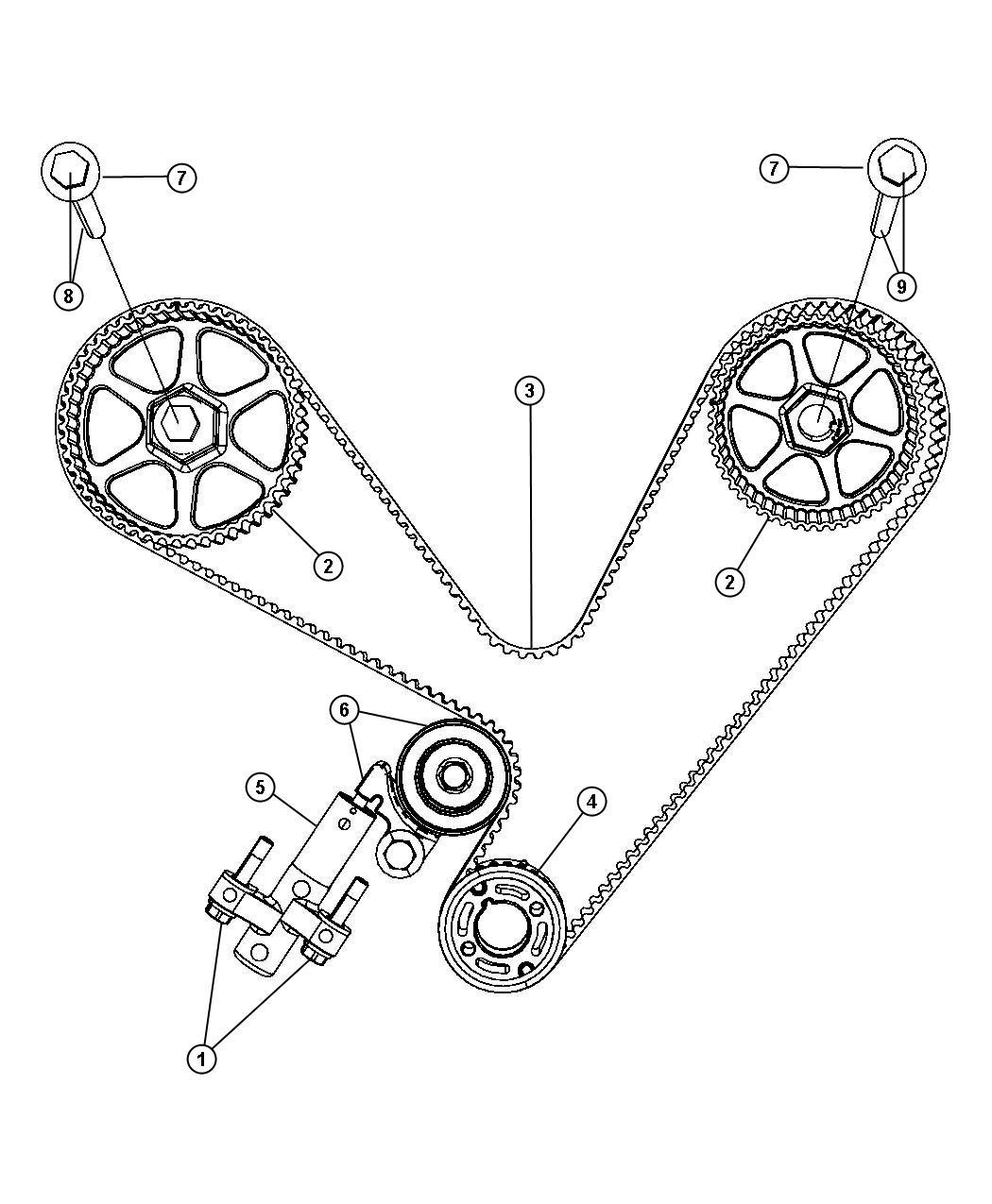Chrysler 300 Gear Sprocket Crankshaft Timing Belt