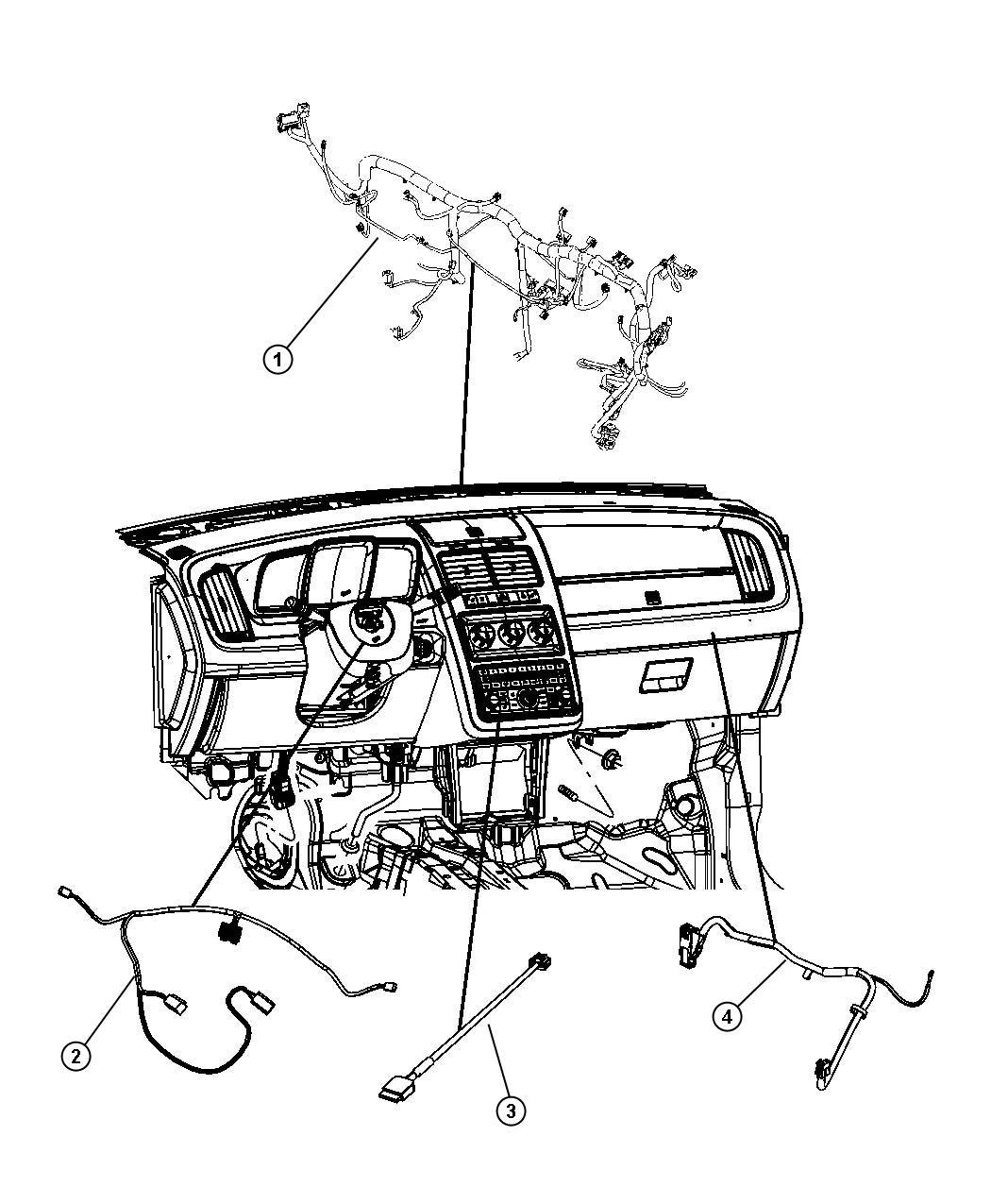 Dodge Journey Wiring Instrument Panel Air Cond Atc W