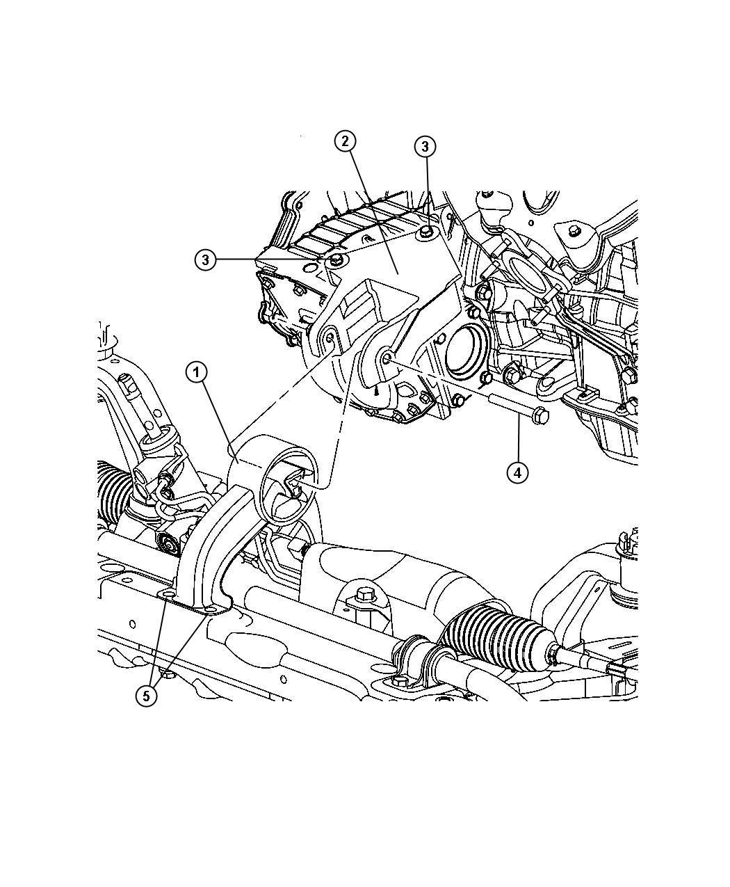 Dodge Express Bracket Engine Mount Rear