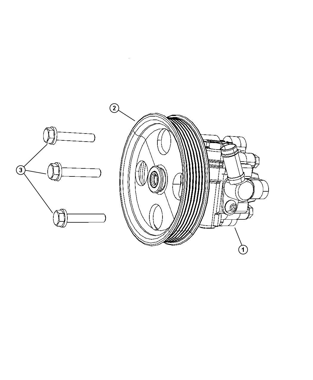 Dodge Grand Caravan Pump Power Steering Remanufactured