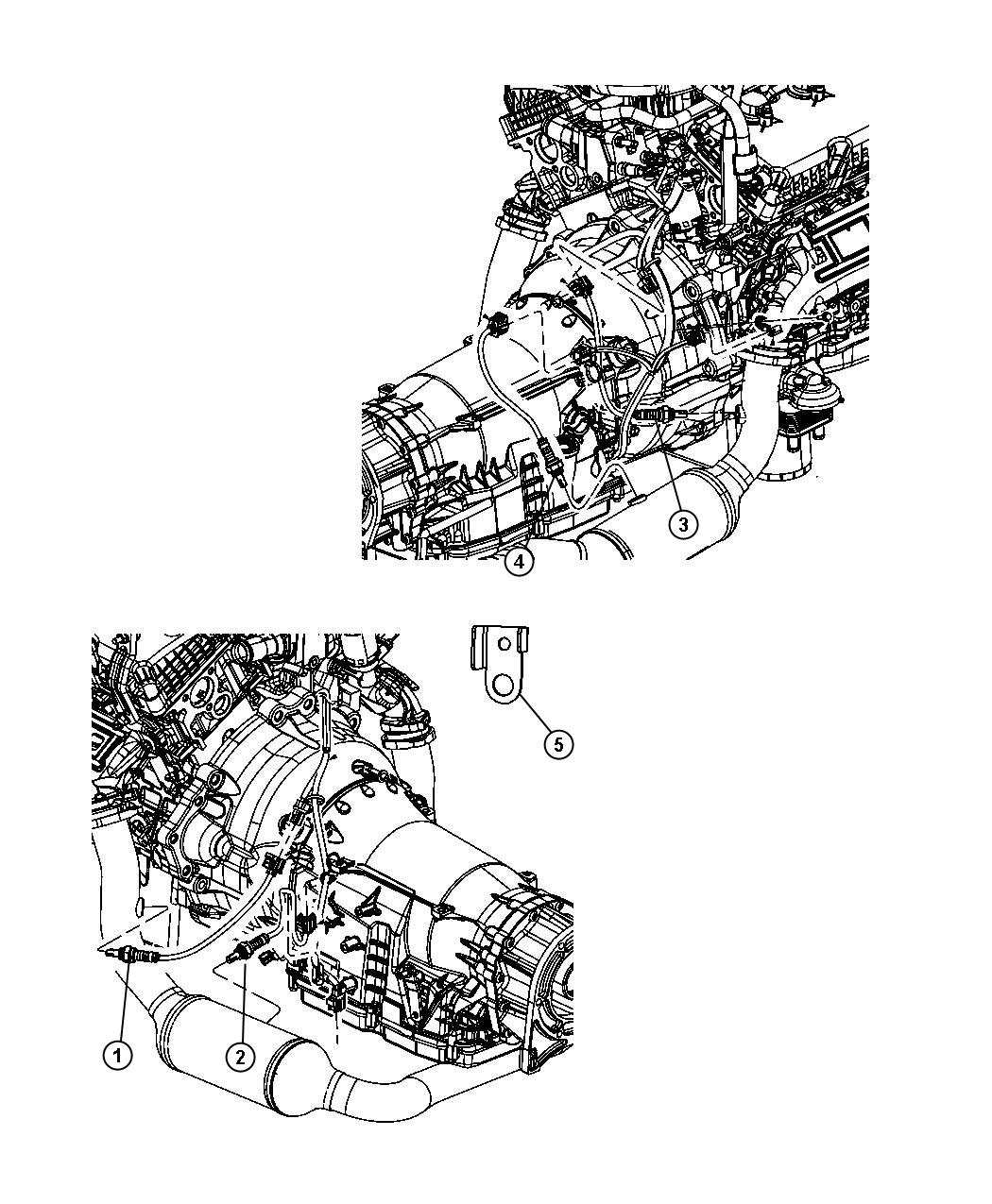 Jeep Liberty Sensor Oxygen After Catalyst Before