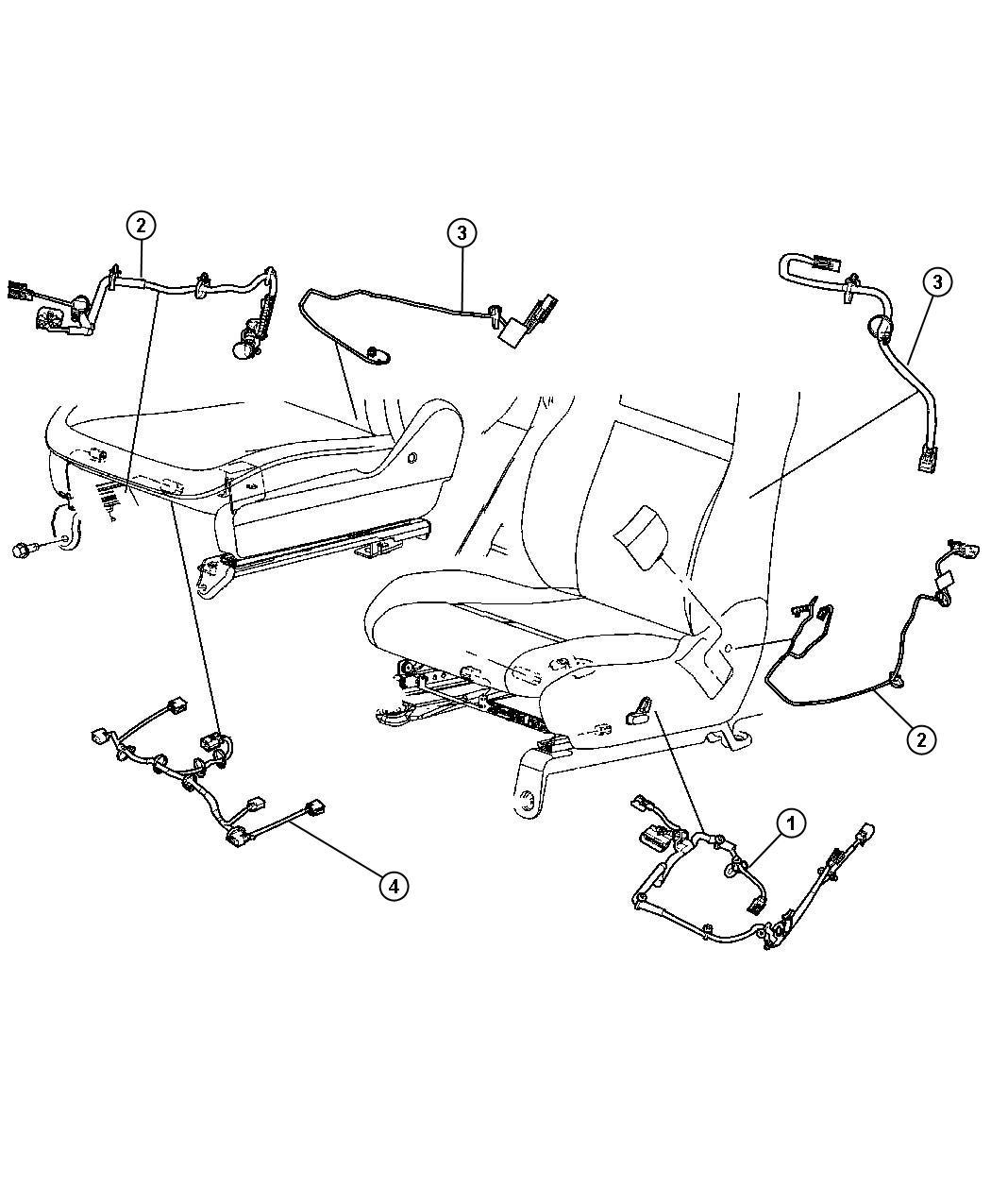 Chrysler Sebring Wiring Power Seat Trim Premium Cloth