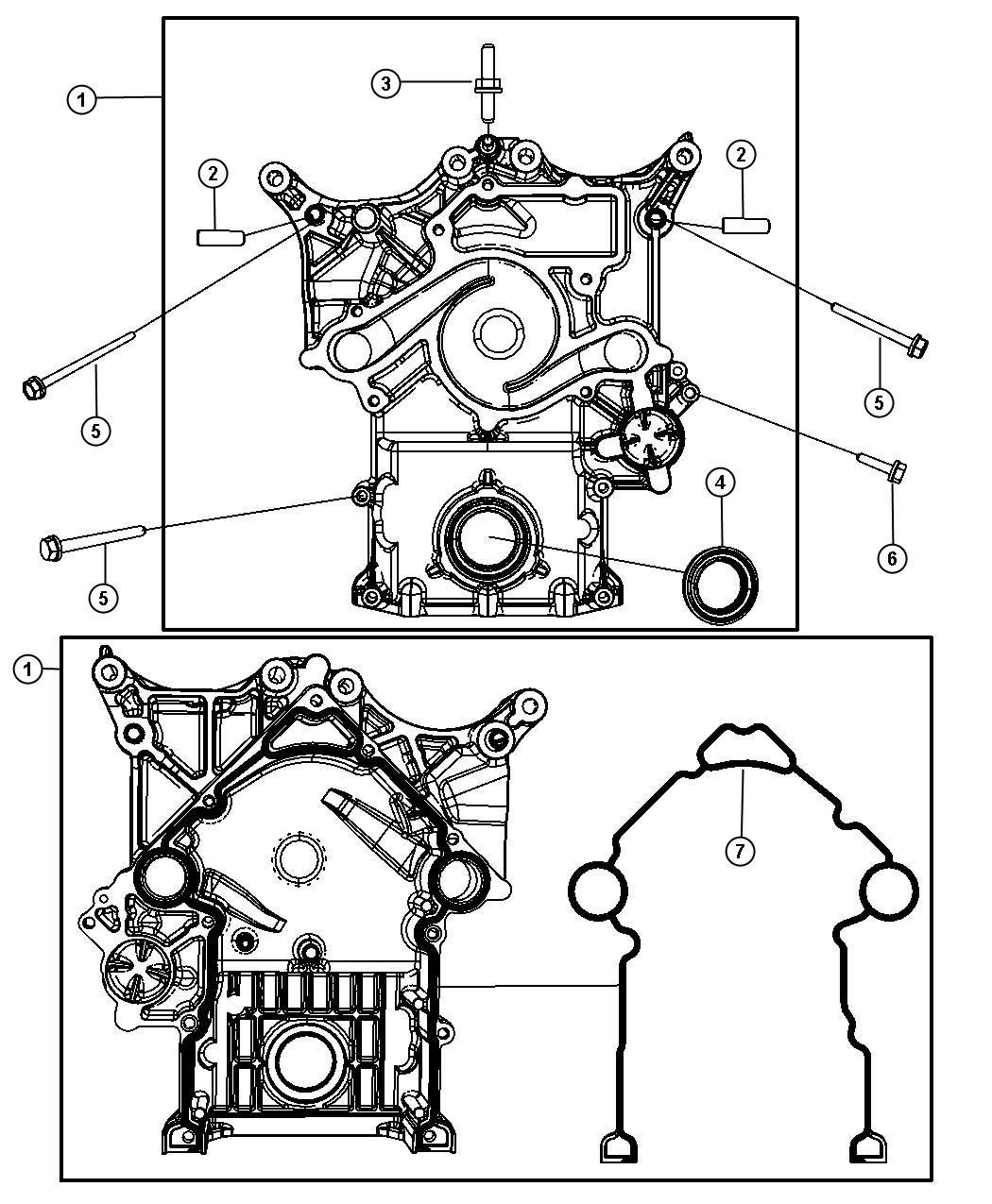 Chrysler 300 Cover Timing Case Mds Engine Hemi