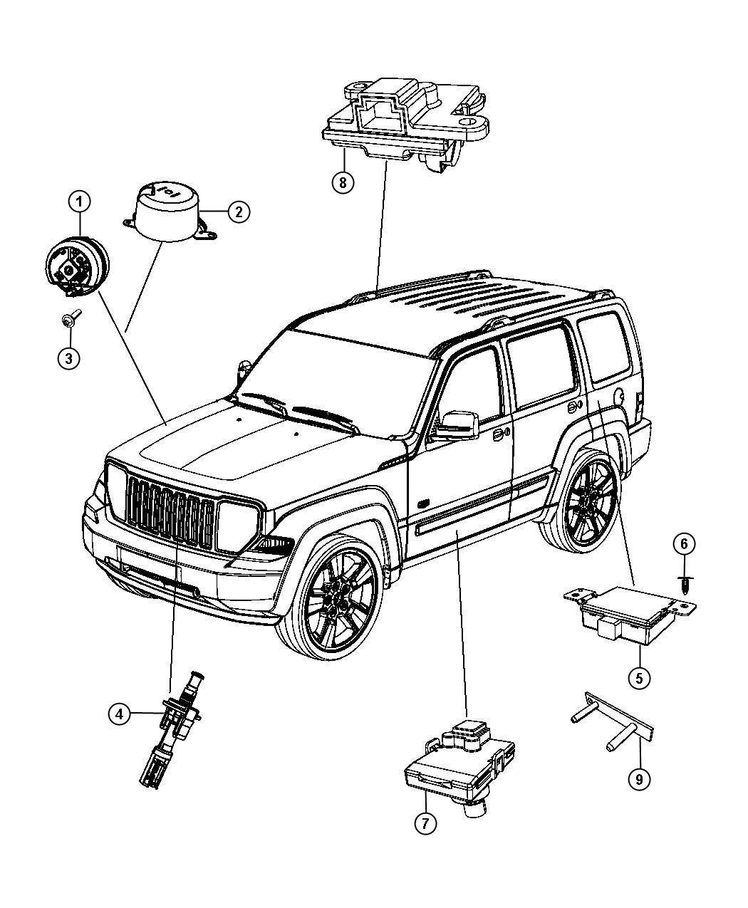 Jeep Liberty Transmitter Anti Theft Export Thatcham