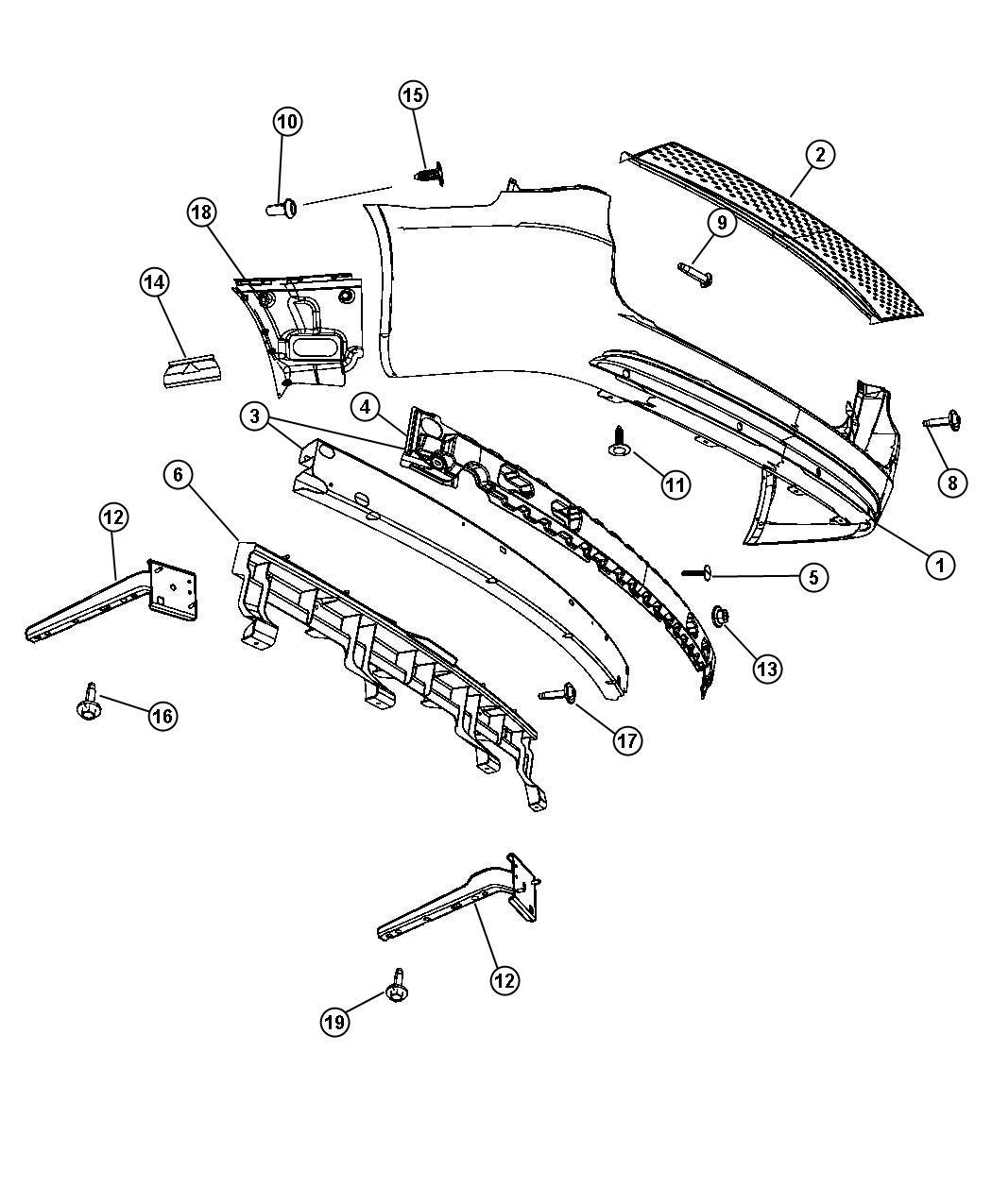 Dodge Grand Caravan Reinforcement Rear Bumper
