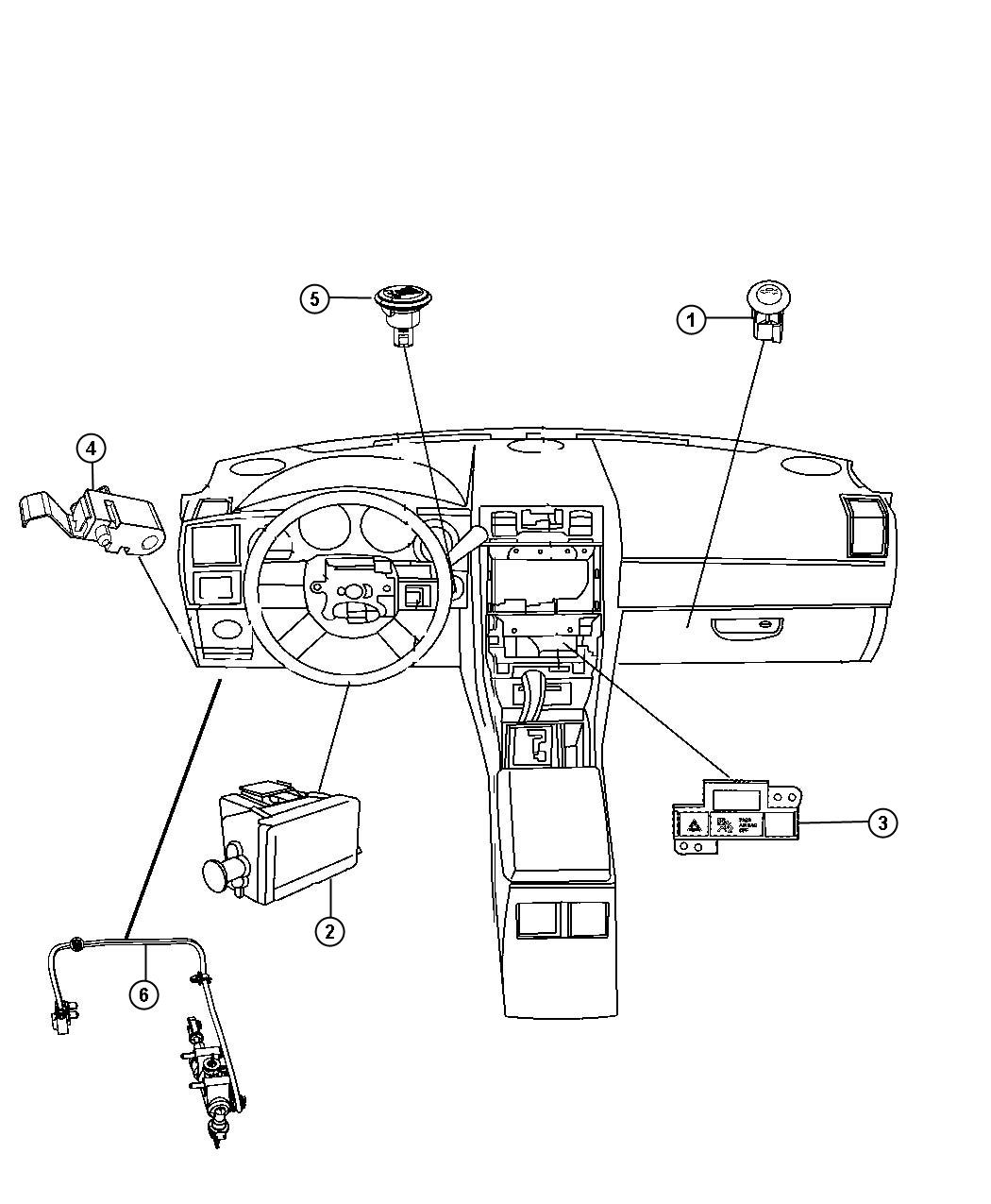 Dodge Challenger Switch Instrument Panel Electronic