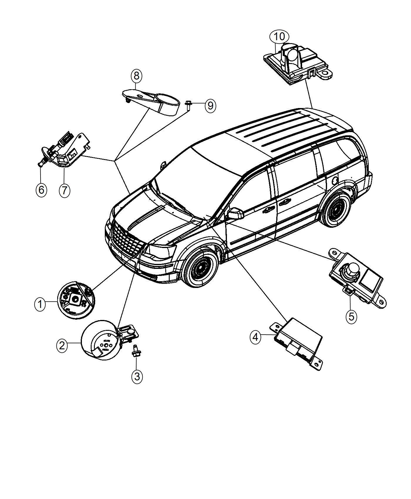 Dodge Grand Caravan Transmitter Anti Theft Export