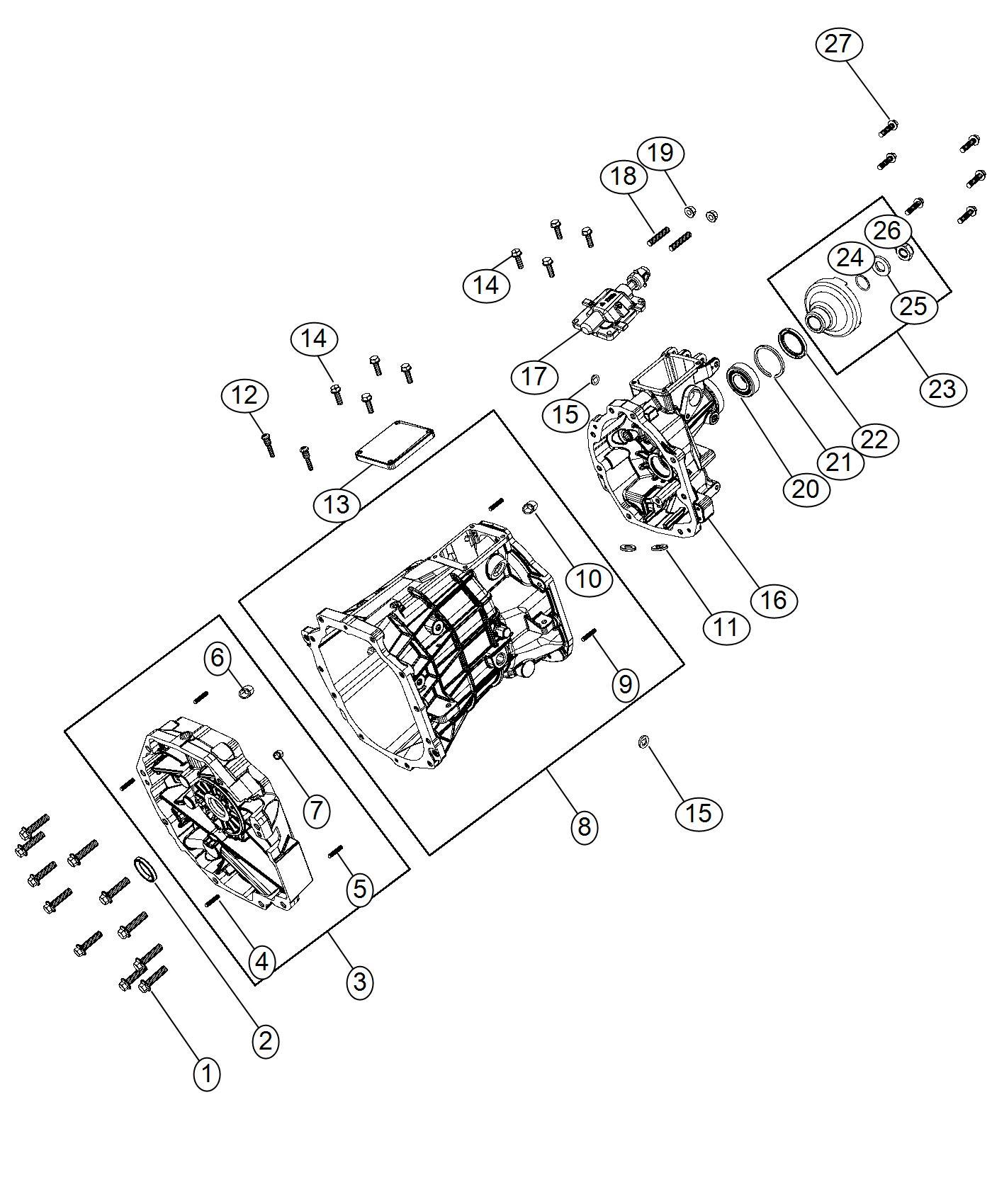 Dodge Challenger Plug Oil Fill Transmission Drain Drain
