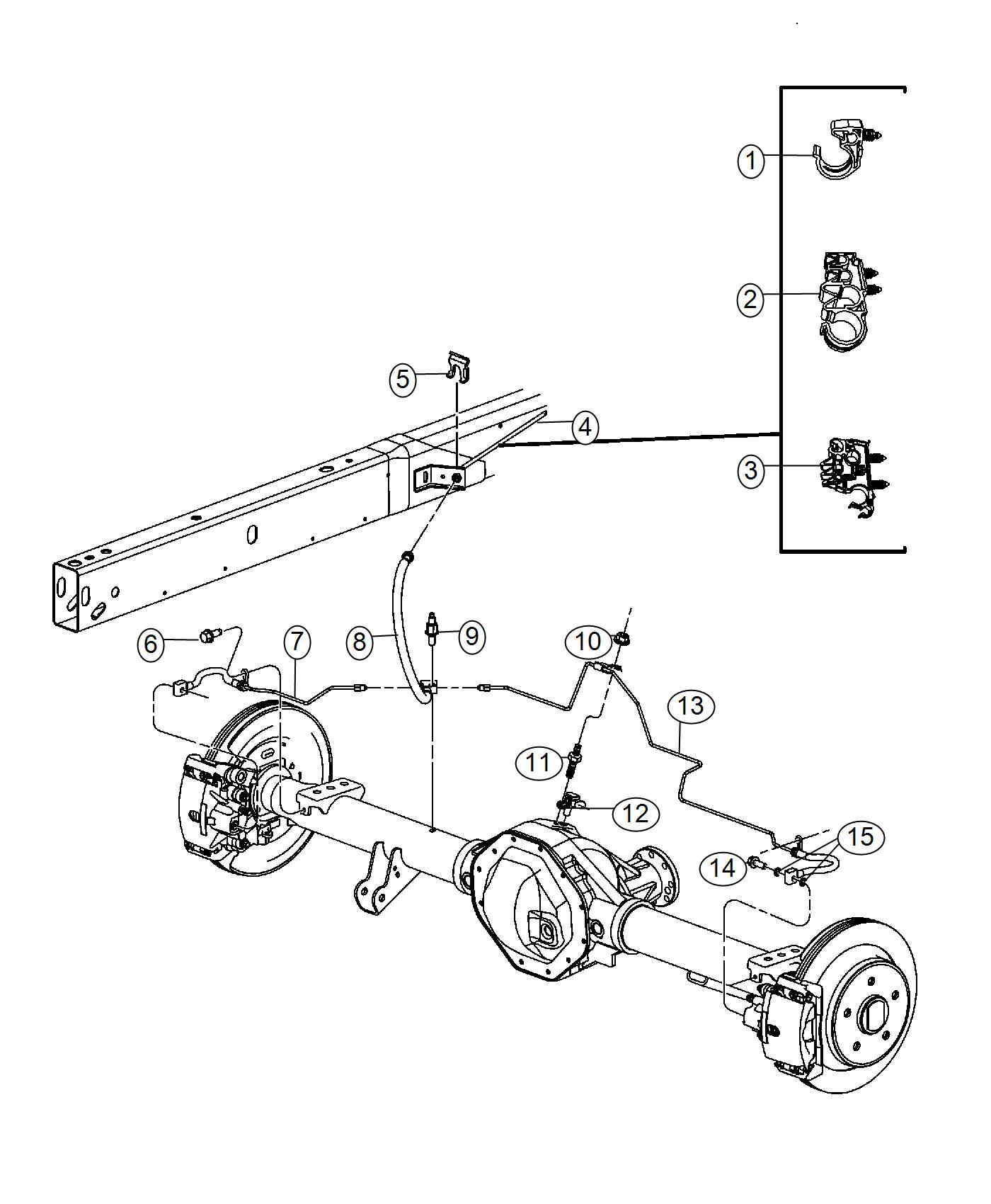 Ram Tube Brake Right Hoses Chassis Maintenance