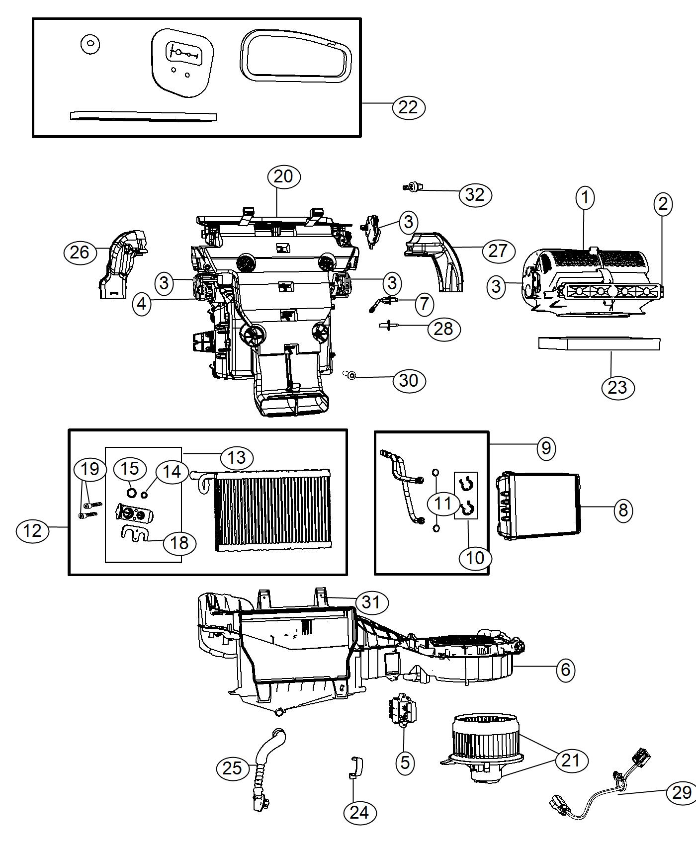 Dodge Durango O Ring O Ring Heater Core Heater Core