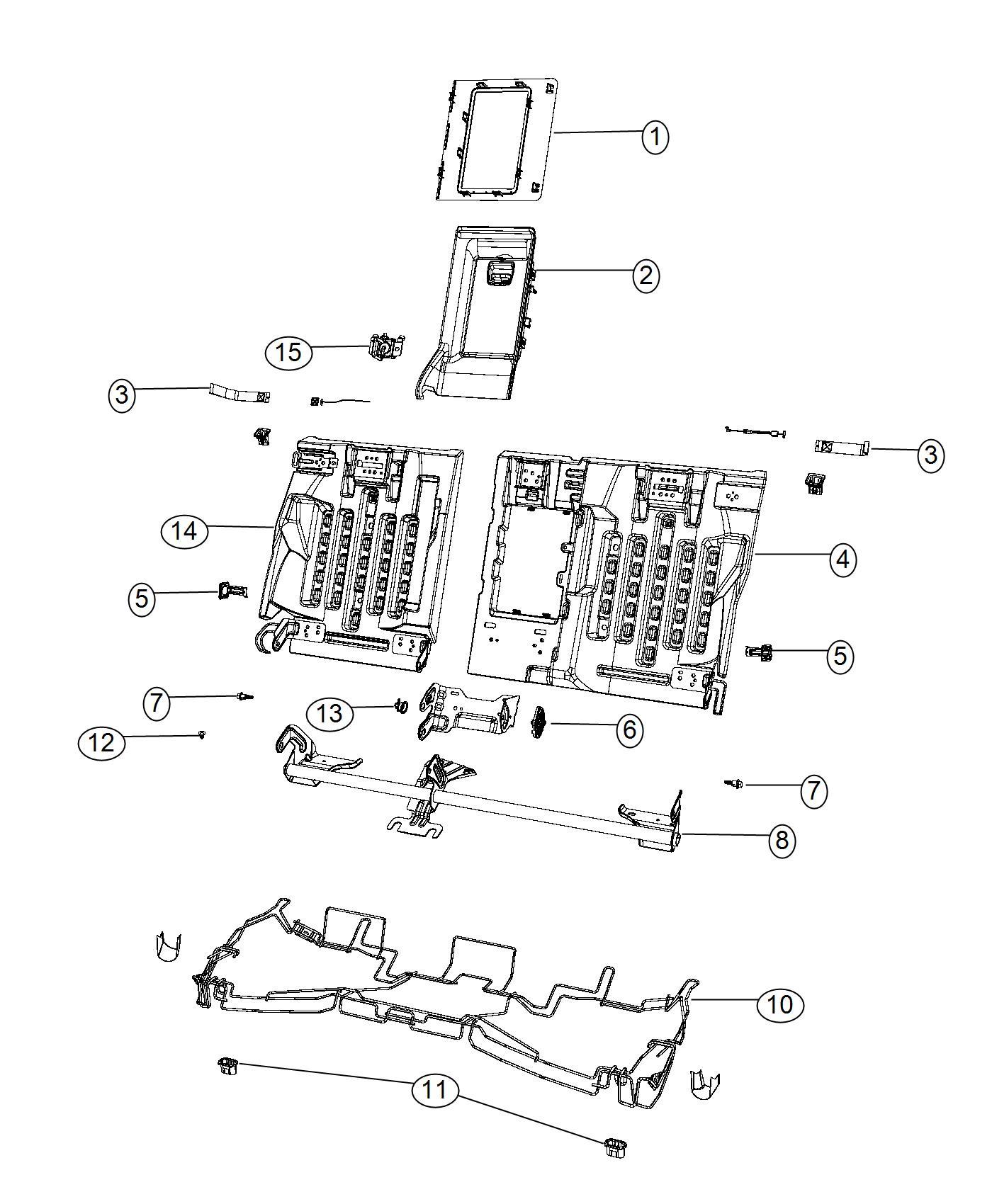 Chrysler 200 Housing Assembly Rear Seat Black Caramel