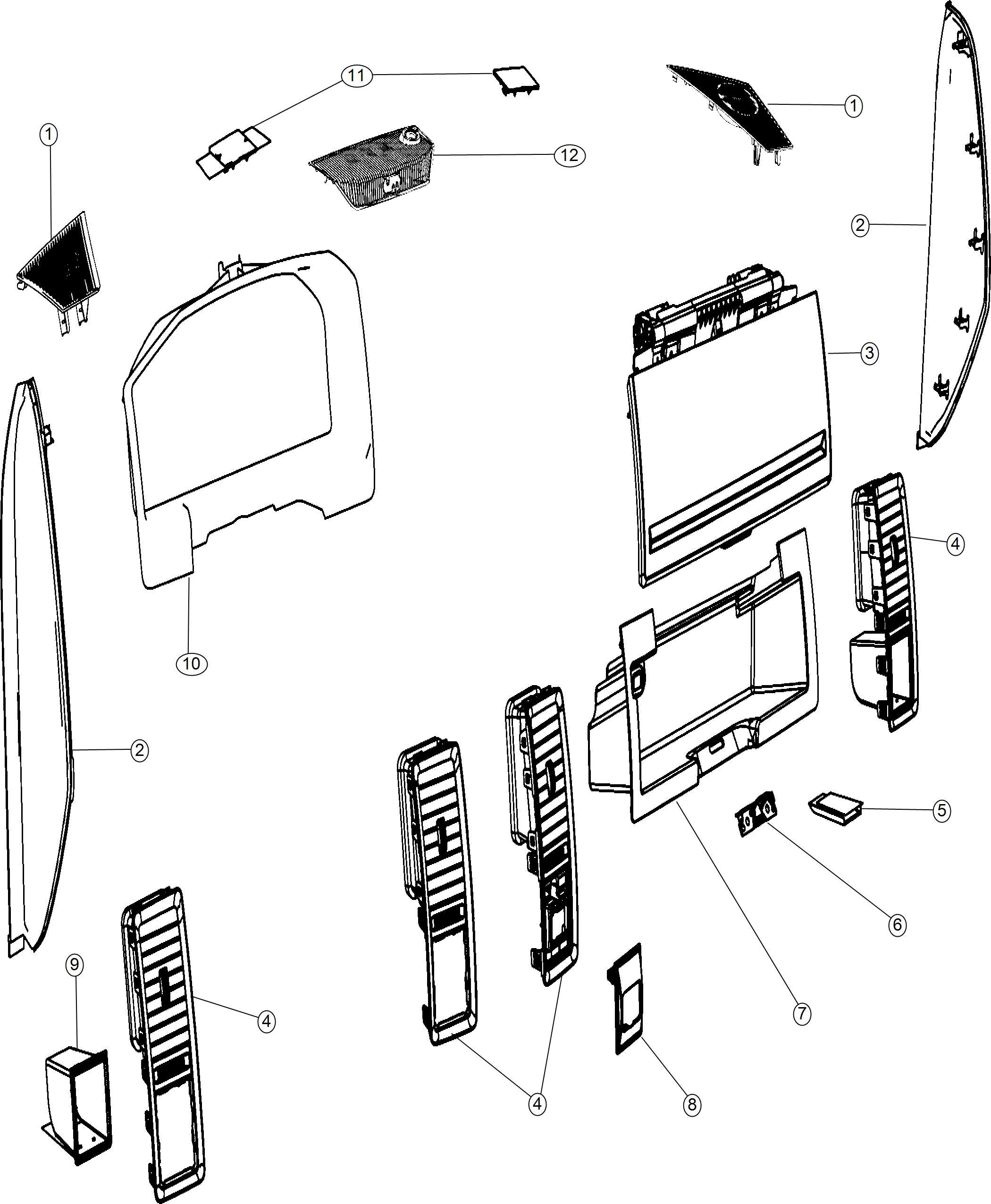 Ram Bezel Instrument Cluster Trim No Description