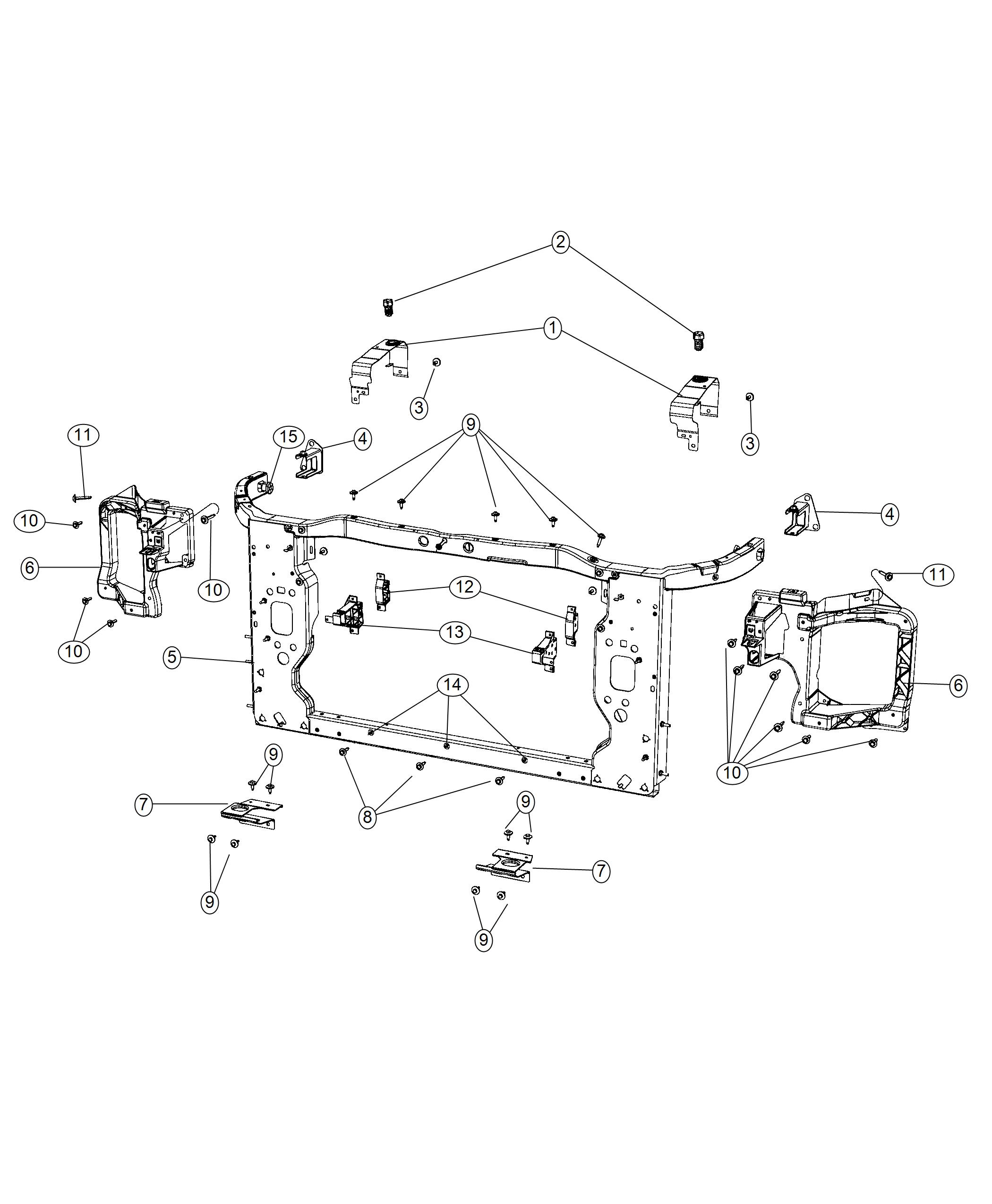 Jeep Cherokee Bracket Cooling Module Left End Front